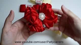 Laço rosas – how to make a ribbon bow