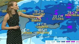 Winter storm pounding Eastern Canada