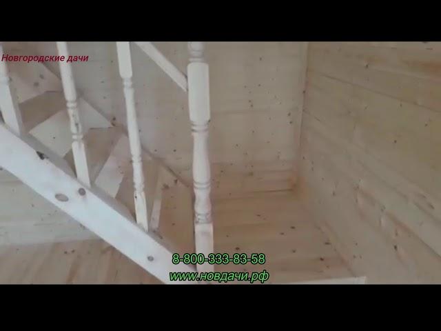 Построен каркасный дом размером 6х6 м. в Новгородском районе д.  Новая Мельница