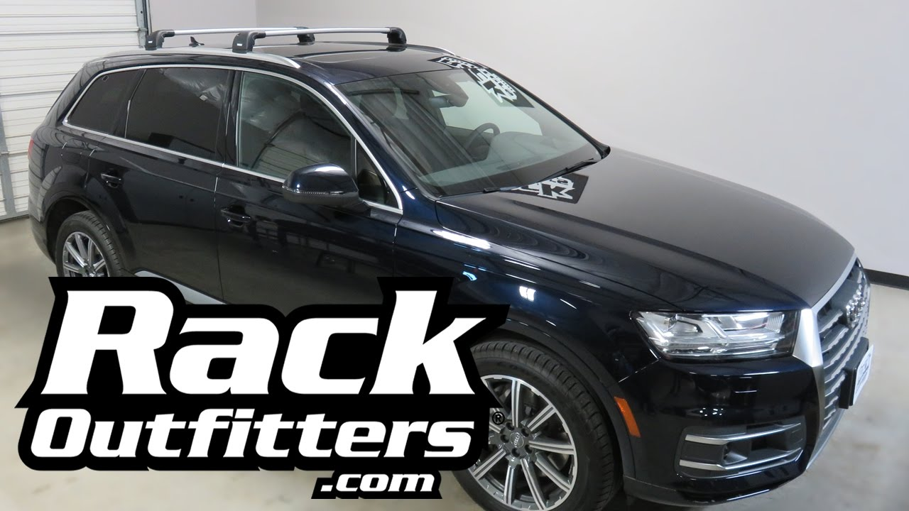 2017+ Audi Q7 with Thule AeroBlade Edge Roof Rack Crossbars - YouTube