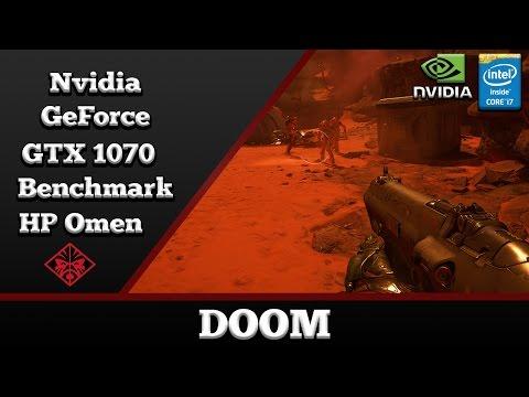 DOOM on Nvidia GeForce GTX 1070 8GB GDDR5 (HP Omen 17 Notebook)