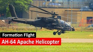 AH-64 Apache Helicopter Formation Flight - RENA LEIR AIRFIELD, NORWAY