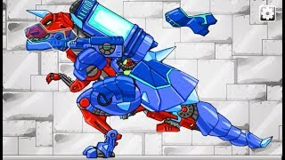 jogo de Dinossauro gratuito de montar um Robô Dinossauro Transforme...