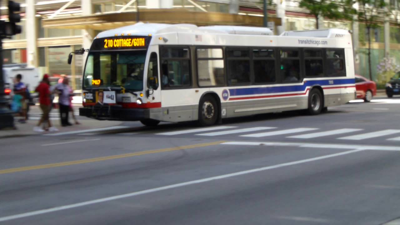 CTA Bus: 2014 Nova-LFS Route 2 Bus #7915 at Madison/State (Downtown Chicago)