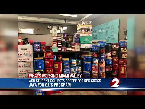 WDTN: Wright State graduate student collects coffee for