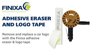 How to remove and replace logo with Finixa adhesive eraser & logo tape