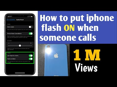 How to Set iPhone Camera LED to Flash on Incoming Calls and Alerts *2019 latest