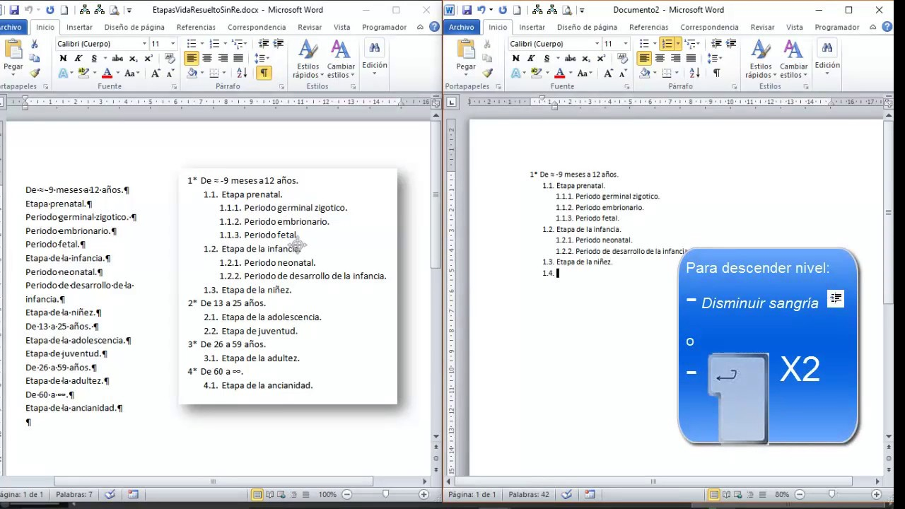 Download Lista multinivel fácil (Word)