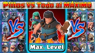 Pillos VS TODO al MAXIMO !! Clash Royale