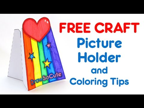 How To Make Draw So Cute Picture Holder Craft Free Coloring Tips