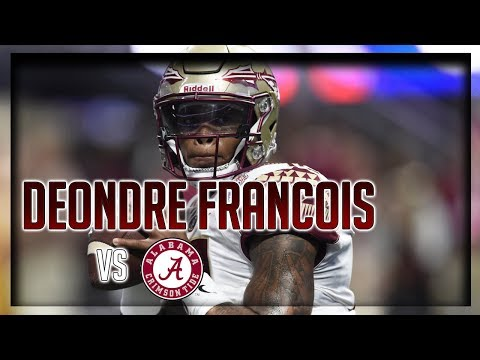Deondre Francois Highlights vs Alabama // 19/33 210 Yards, 1 TD // 9.02.17