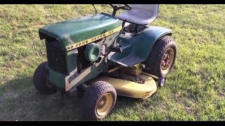 Rare Find 1971 John Deere 120 Hydro-static Garden Tractor with Hydraulic Lift