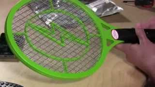 Electric fly swatter with built in rechargable battery review