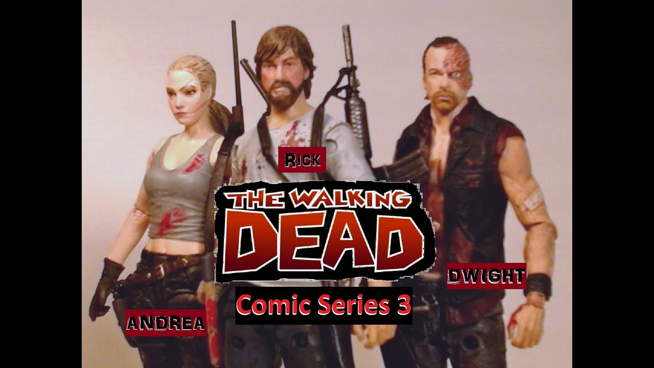 Fu Reviews McFarlane Toys The Walking Dead Comic Series 3 Rick Grimes Dwight Andrea Figures