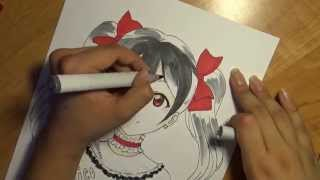 Drawing Yazawa Nico from the Anime: Love Live! School Idol Project