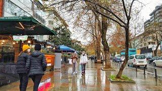 ⁴ᴷ⁶⁰ Istanbul Walk   Bağdat Avenue   Light Rain in Winter 2021