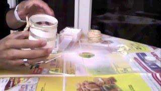 comment décorer un pot de yaourt en verre