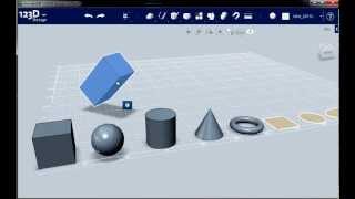 Создание простых форм и манипуляции с объектами. Autodesk 123D Design