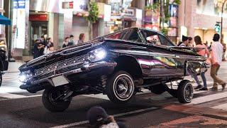 【GWの渋谷】ローライダー,カスタムカーが渋谷でパフォーマンス‼️/Lowrider, custom car performance run in Shibuya Japan.