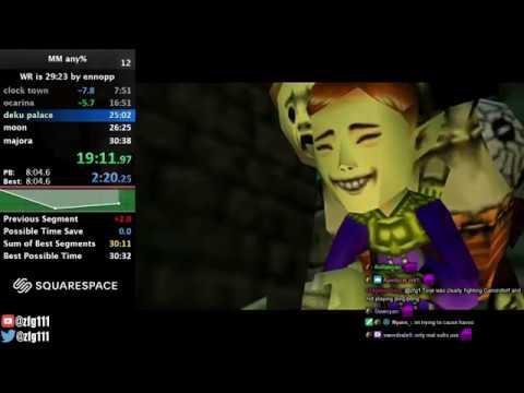 Majora's Mask Any% Speedrun In 30:09
