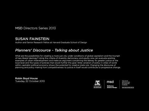 MSD DIRECTOR'S SERIES 2013 - Susan Fainstein