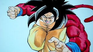Drawing Goku SSJ4 - Super Saiyan 4