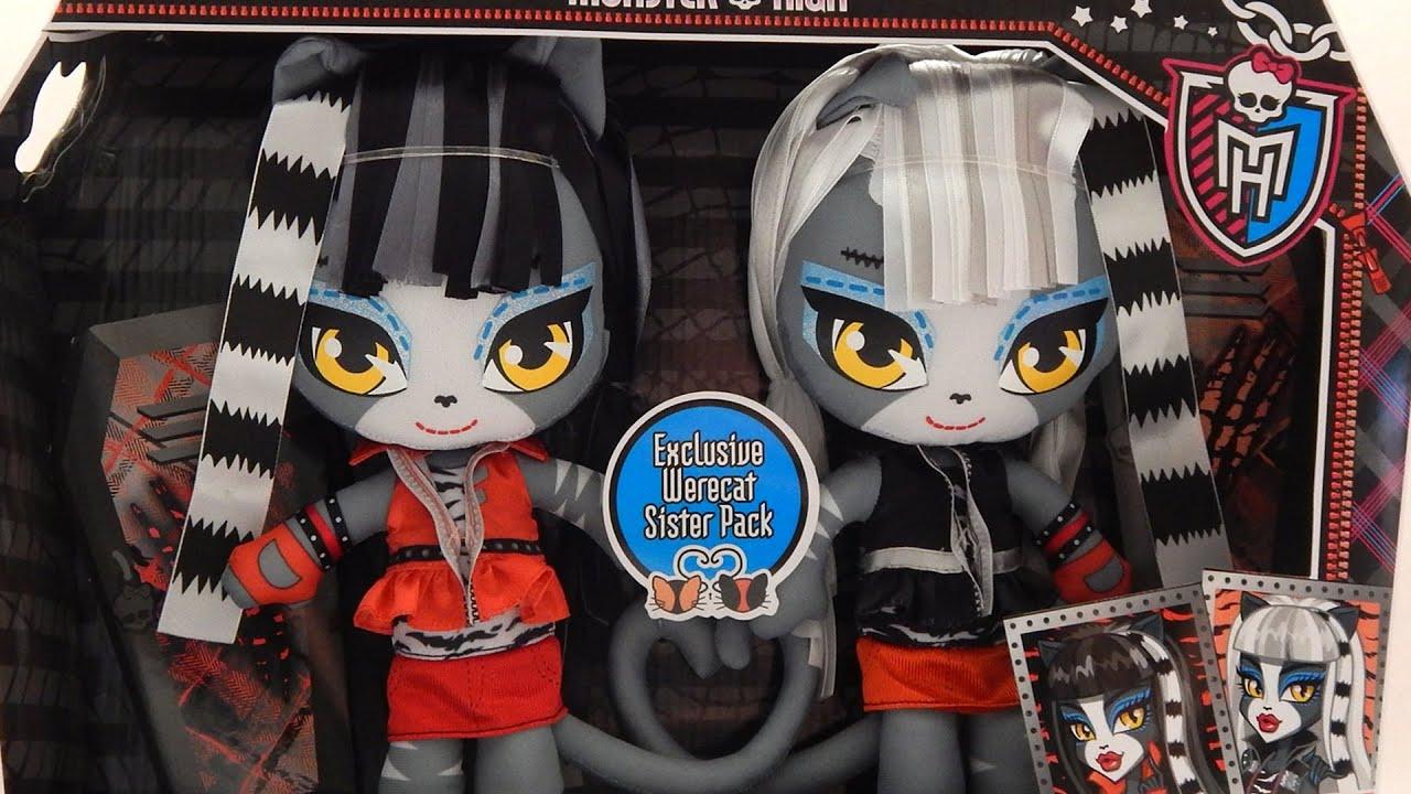 Purrsephone And Meowlady Werecats Monster High Plush Dolls Toy