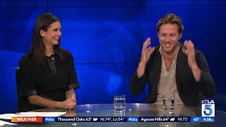 """Actors Nina Dobrev And Luke Bracey Dish On Their New Film """"lucky Day"""""""