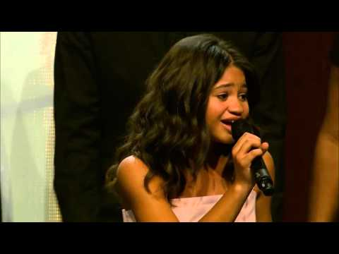 Leukemia survivor, Caiah, sings Rachel Platten's