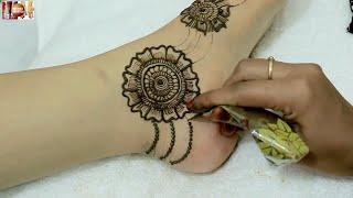 Mandala Floral Feet Mehndi Design For Teej 2018