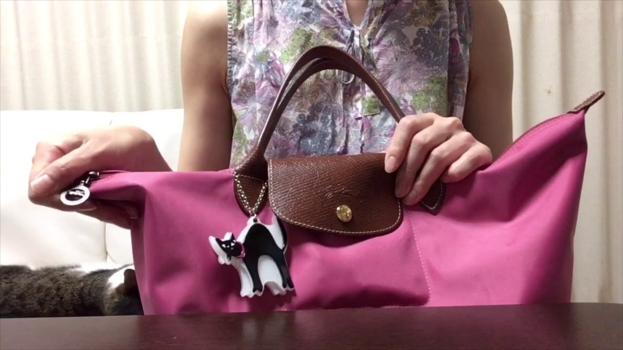 the latest 8ec89 f5a5f 夏セール ロンシャン ル プリアージュとバッグの中身公開 What's in my bag? LONGCHAMP le pliage