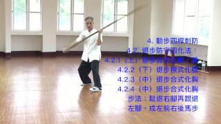 新竹《熊氏太極拳宇涵堂》黃國治老師 太極桿第5~6招講解 Tai Chi Master K.C. Huang
