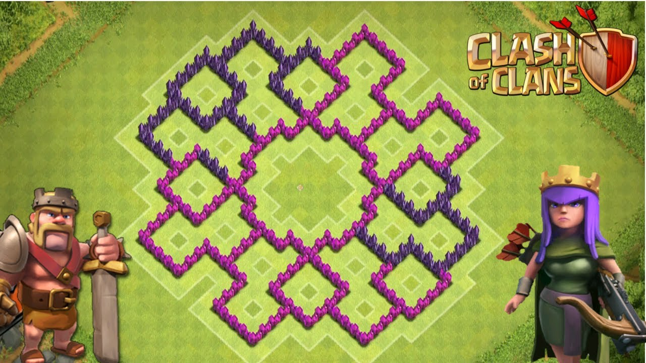 Clash of clans th8 farming base the gizmo youtube