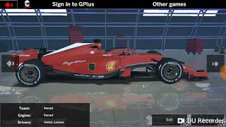 F1 Ala mobile racing game what f1 cars do it has