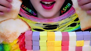 ASMR RAINBOW CHEESE TOAST & CA…