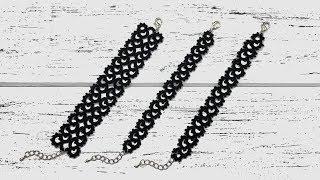 Needle tatting. 1 pattern - 3 bracelets DIY / Фриволите иглой. 1 мотив - 3 браслета
