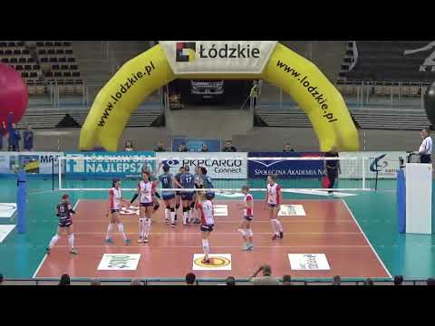 Paula Słonecka OUTSIDE HITTER  Polish League 2017-2018 nr 2 blue shirt