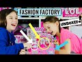 WE PLAY LOL SURPRISE FASHION FACTORY! Series 4 Eye Spy PAPER DOLL Game! Real Life LOL FASHION CRUSH!