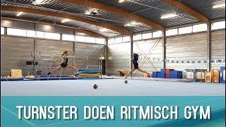 Turnsters proberen Ritmische gymnastiek Typisch Turnen