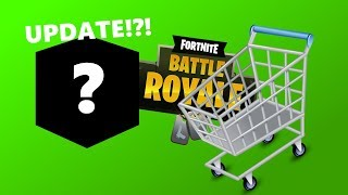 NEW FORTNITE UPDATE AND SHOPPING CART RACE!!! | Fortnite Funny Moments