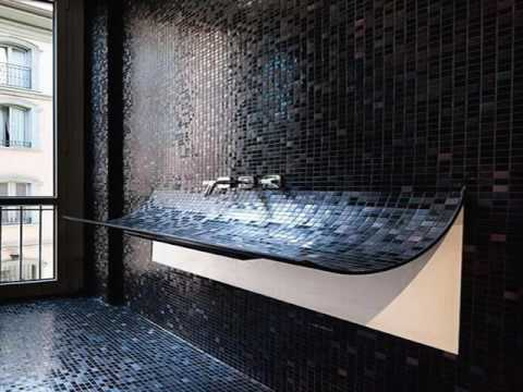 black tile bathroom ideas black bathroom tiles with glitter ideas 17421
