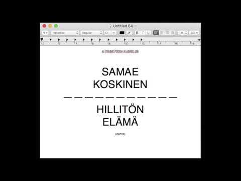 Samae Koskinen: Hillitön elämä demot - Jonnet ei muista