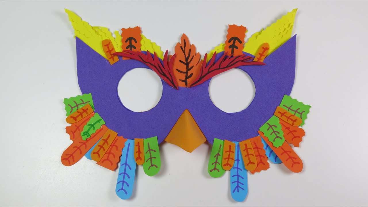 diy paper owl mask create fun crafts for kids youtube