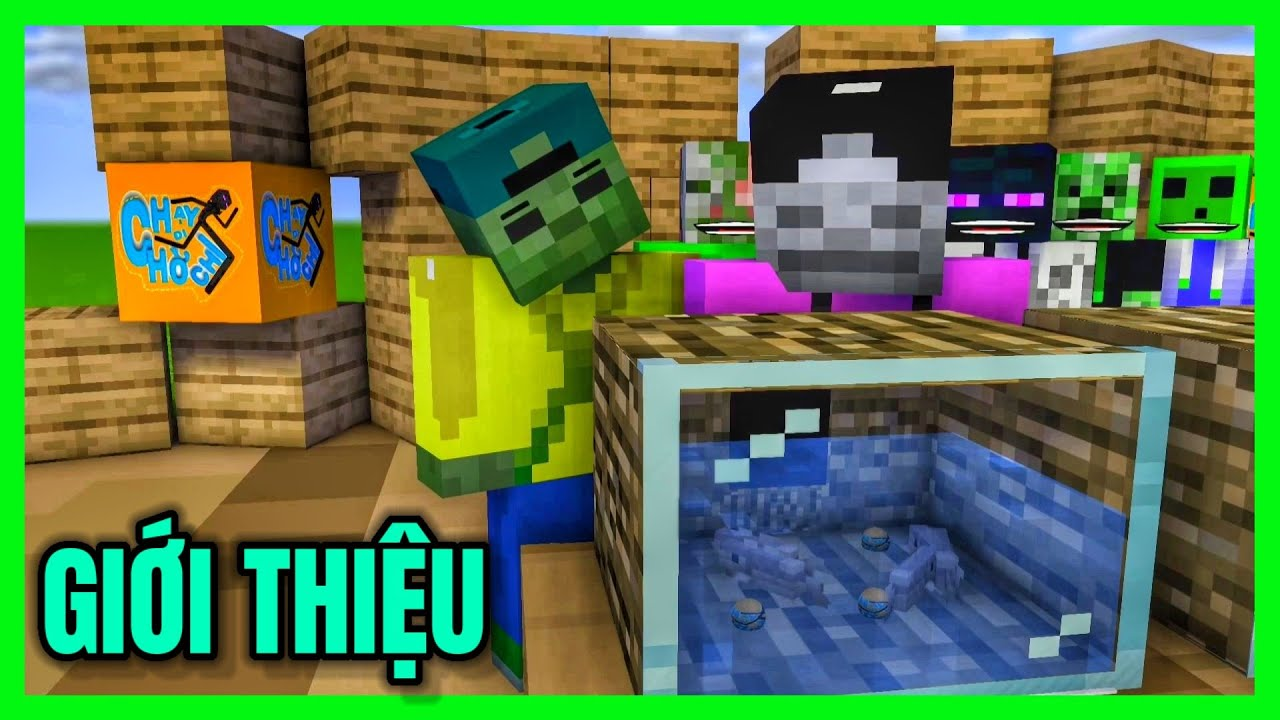 [ Lớp Học Quái Vật ] CHẠY ĐI CHỜ CHI ( GIỚI THIỆU)   Minecraft Animation