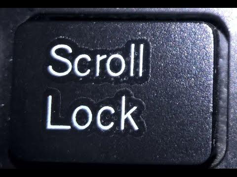 Зачем нужен scroll lock