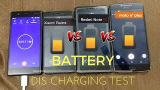 Moto E4 Plus VS Redmi Note 4 VS Redmi 4: Battery Dis-Charging Test  | Battery Performance Ka Dangal