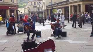 Street Music Guitar Duo playing Insomnia