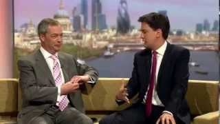 BBC Marr Show: UKIP Nigel Farage vs Labour  Ed Miliband 04 May 14