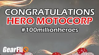 Hero MotoCorp 100 Million Milestone Celebration | Hindi | GearFliQ