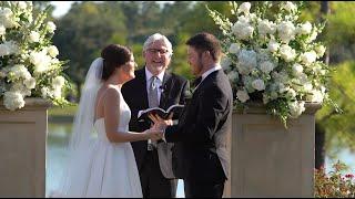 Haley & Taylor's Wedding Ceremony | Royal Oaks Country Club